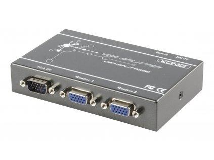 König profi VGA rozbočovač 1 vstup na 2 výstupy, CMP-SPLITVGA10