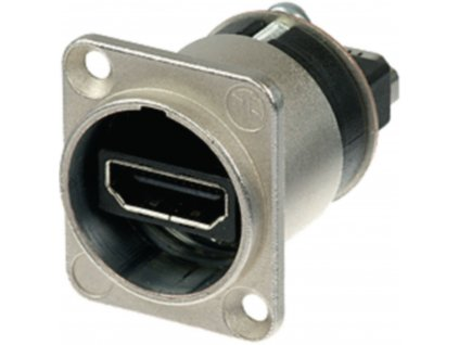 Neutrik NAHDMI-W panelový HDMI konektor-průchodka, stříbrná