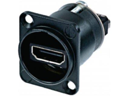 Neutrik NAHDMI-W-B panelový HDMI konektor-průchodka, černá