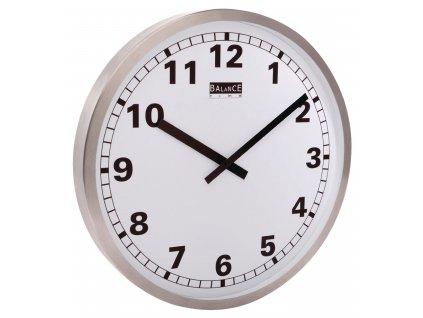 Analogové nástěnné hodiny 50 cm, hliník/bílá, Balance 176629