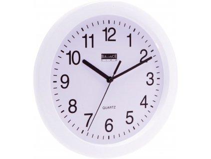 Analogové nástěnné hodiny 25 cm bílé, Balance 776064