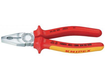 Knipex KP-0306180 kombinované kleště 180 mm VDE