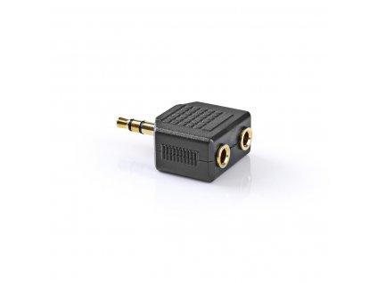 Adaptér jack 3.5mm stereo zástrčka - 2x jack 3.5mm stereo zásuvka (CAGP22945BKG)
