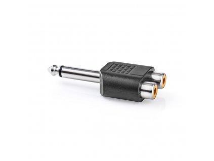 Adaptér Jack 6.35mm mono zástrčka - 2x CINCH zásuvka (CAGP23944BK)
