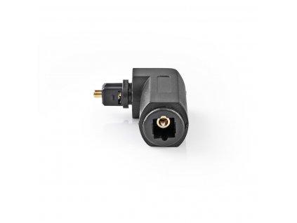 Nedis CAGP25920BK optický adaptér Toslink zástrčka - Toslink zásuvka 90°, 10 ks