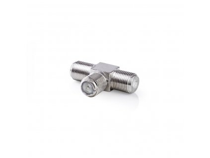 Adaptér F rozbočovač ve tvaru T, F zásuvka - 2x F zásuvka, 10 ks (CSGP41957ME)