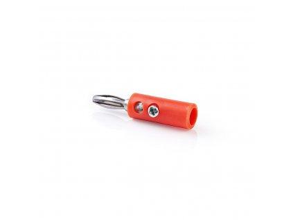 Banánek zástrčka na kabel, 25 ks, červená (CAVC26900RD)