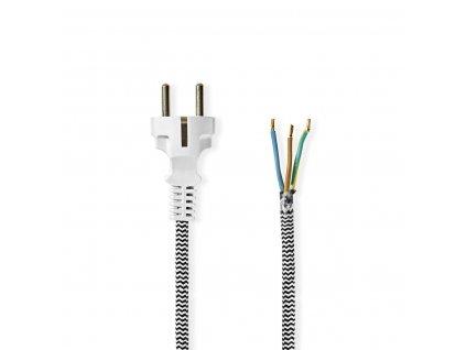 Nedis napájecí flexo kabel s opletením 3 x 0.75 mm 3.00 m (PCPF30WT)