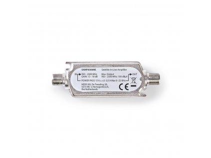 Nedis SAMP0500ME satelitní linkový zesilovač 950–2 300 MHz, ax. zisk 18 dB, průchozí pro napájení 15 V