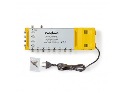 Nedis SSWI900YW multiswitch 5/8, TV 47–862 MHz, SAT 950–2 150 MHz