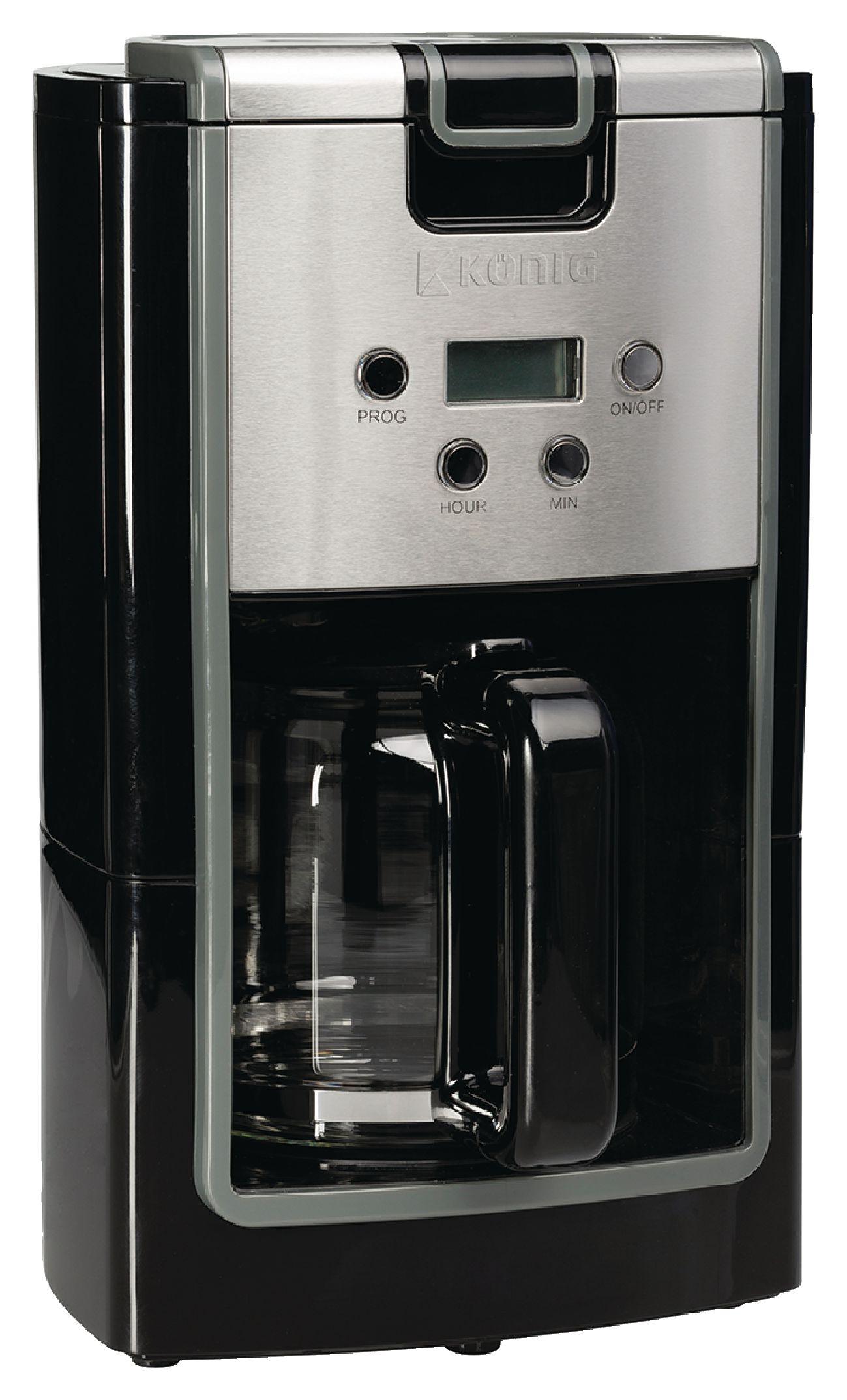 Kávovar 900 W, 12 šálků, König KN-COF10