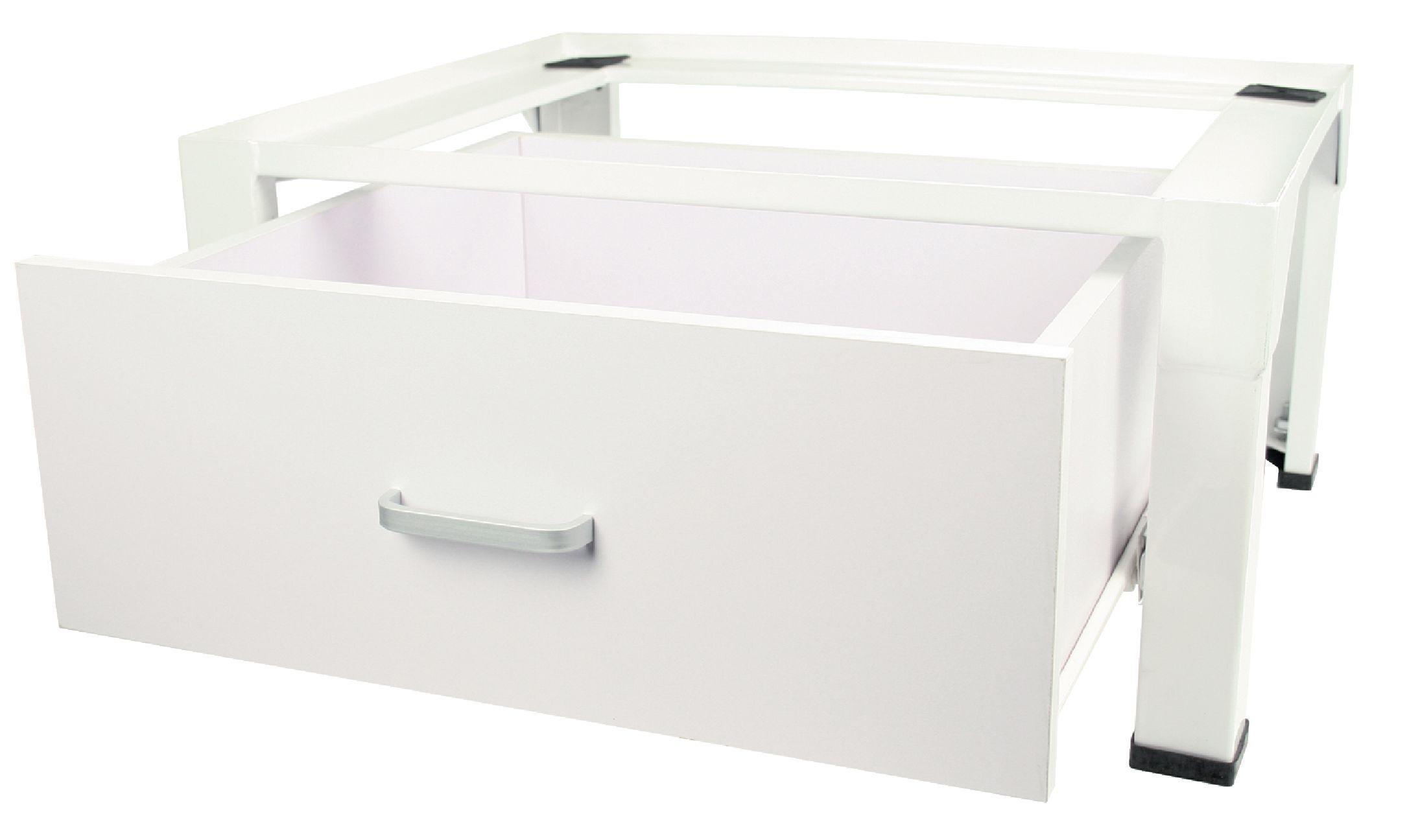 Podstavec pod pračku nebo sušičku s úložným boxem, 150kg HQ W9-SOCLE-WBOX