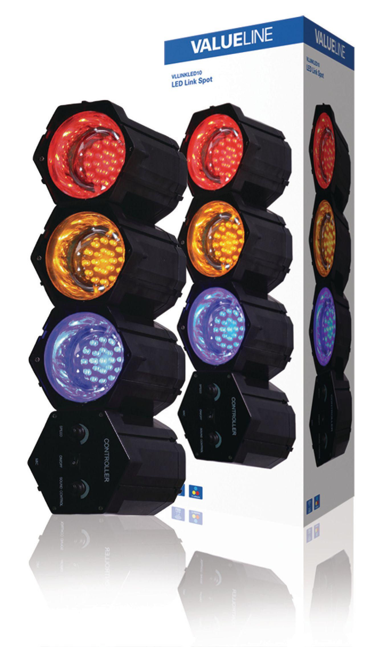 LED světelné varhany se 3 moduly Valueline VLLINKLED10