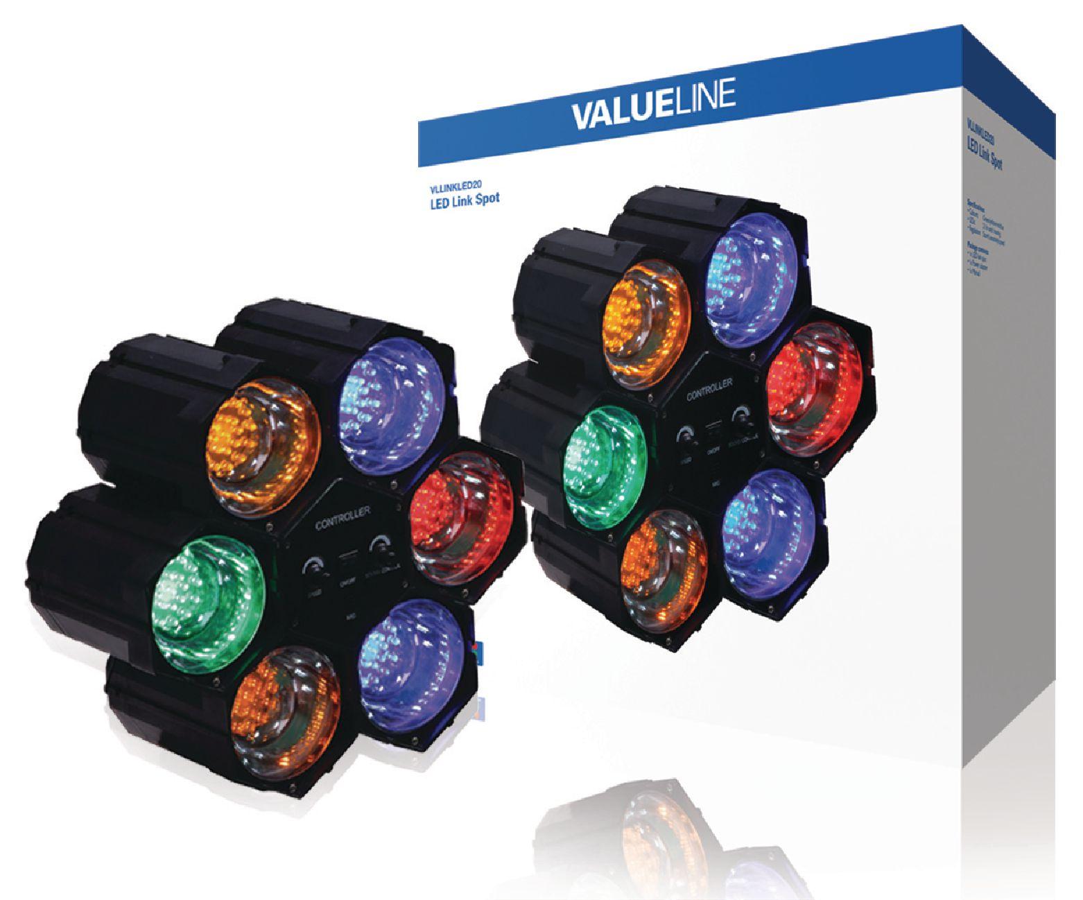LED světelné varhany se 6 moduly