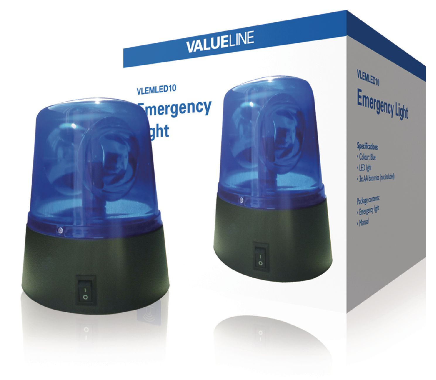 Modrý LED disco maják Valueline VLEMLED10