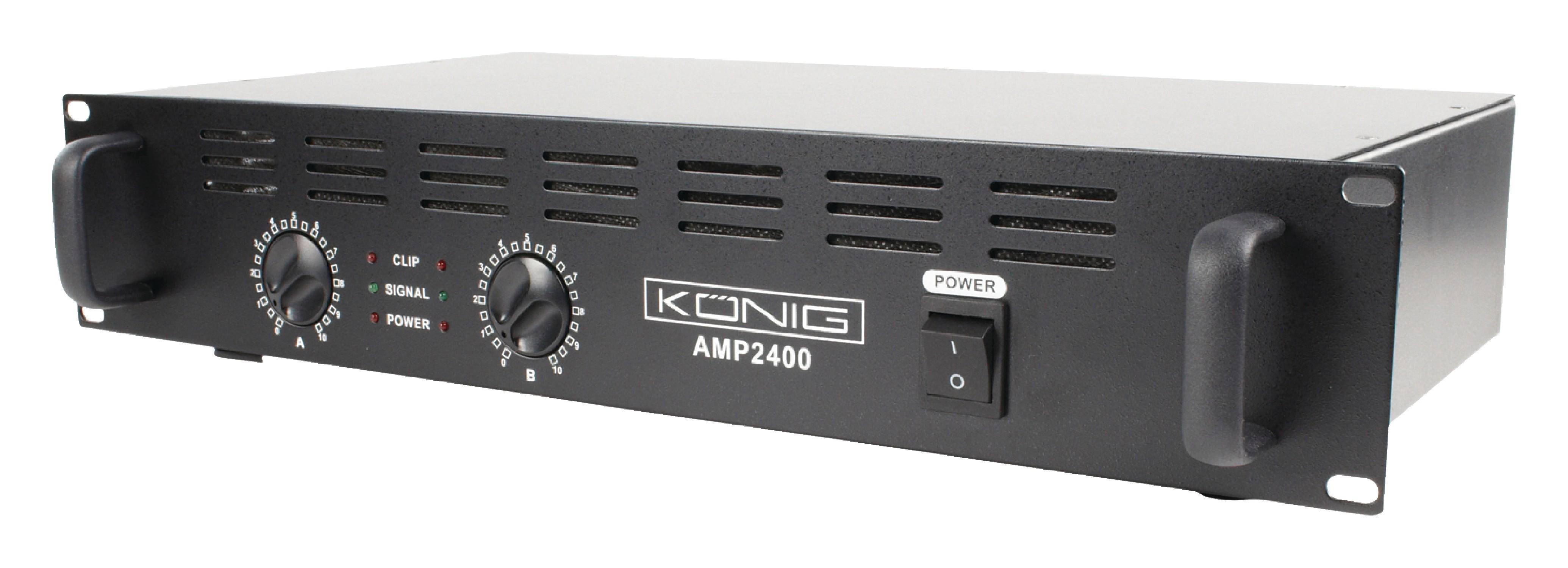 PA zesilovač 2x 120W König PA-AMP2400-KN