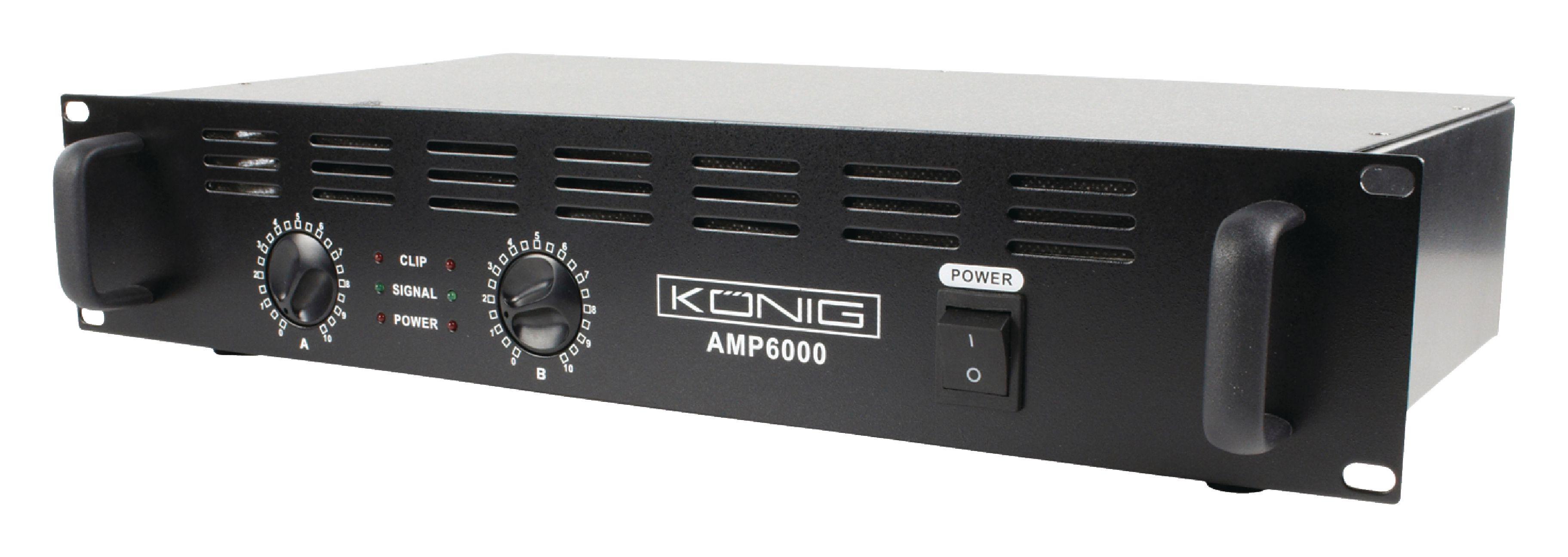 PA zesilovač 2x 300W König PA-AMP6000-KN