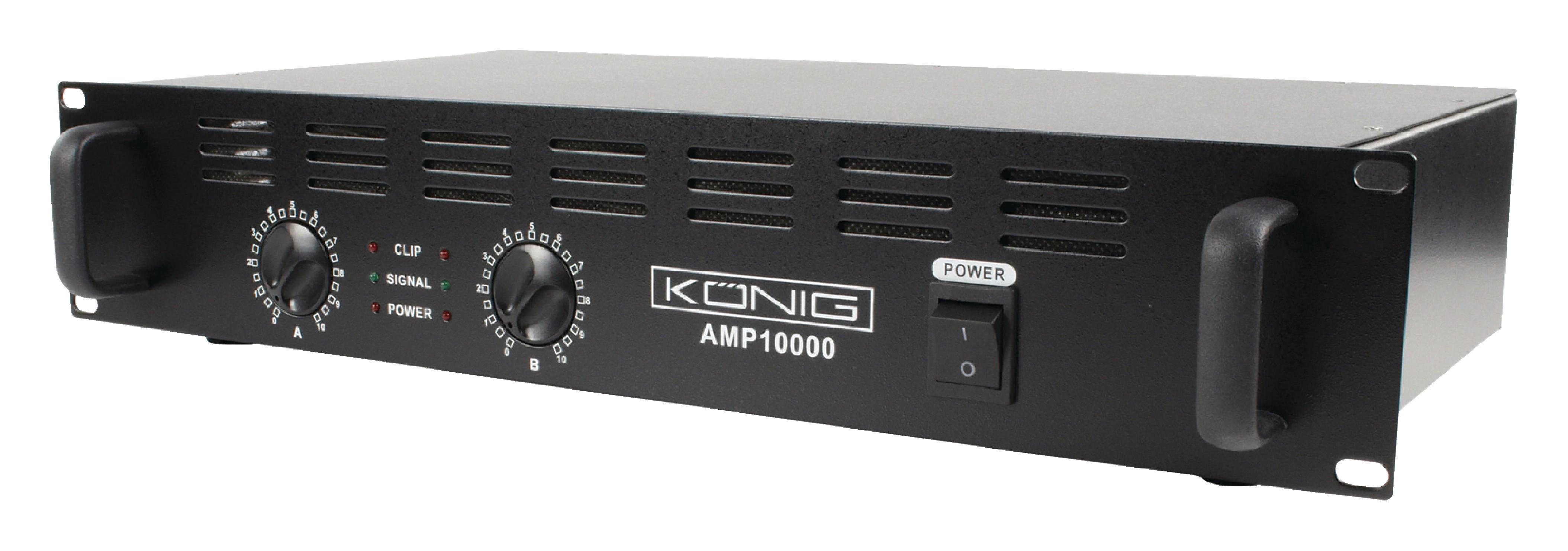 PA zesilovač 2x 500W König PA-AMP10000-KN