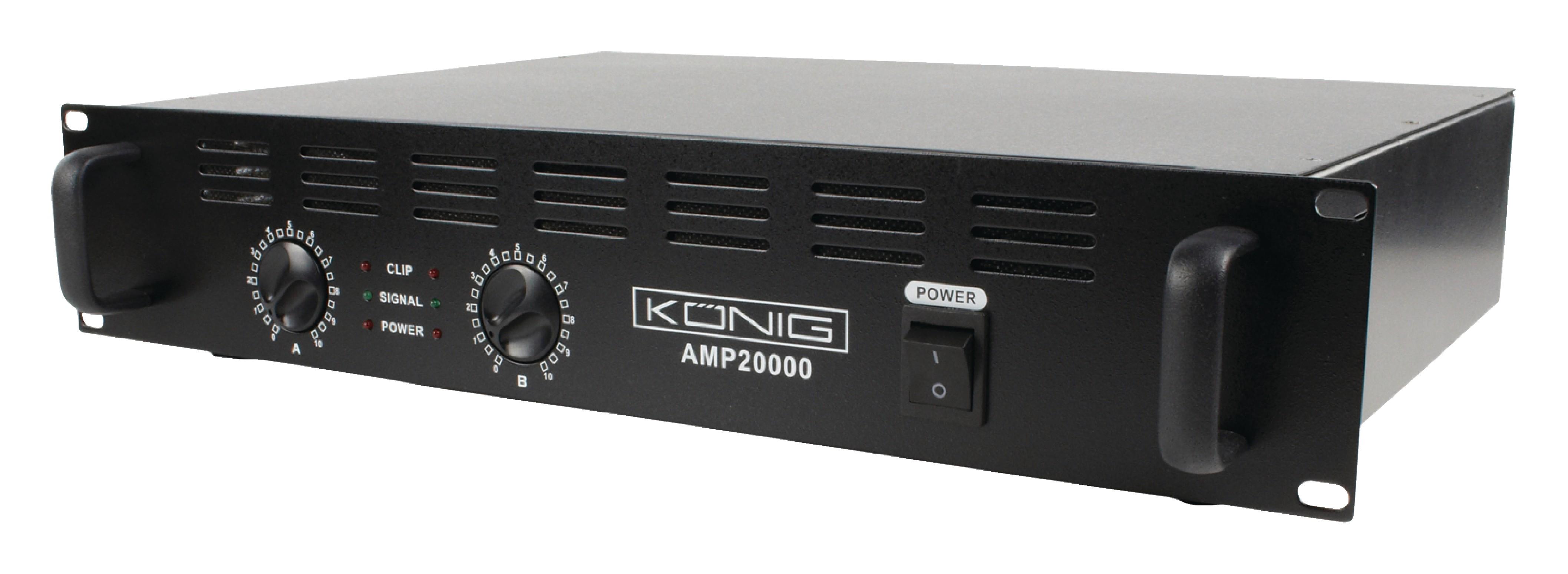 PA zesilovač 2x 1000W König PA-AMP20000-KN