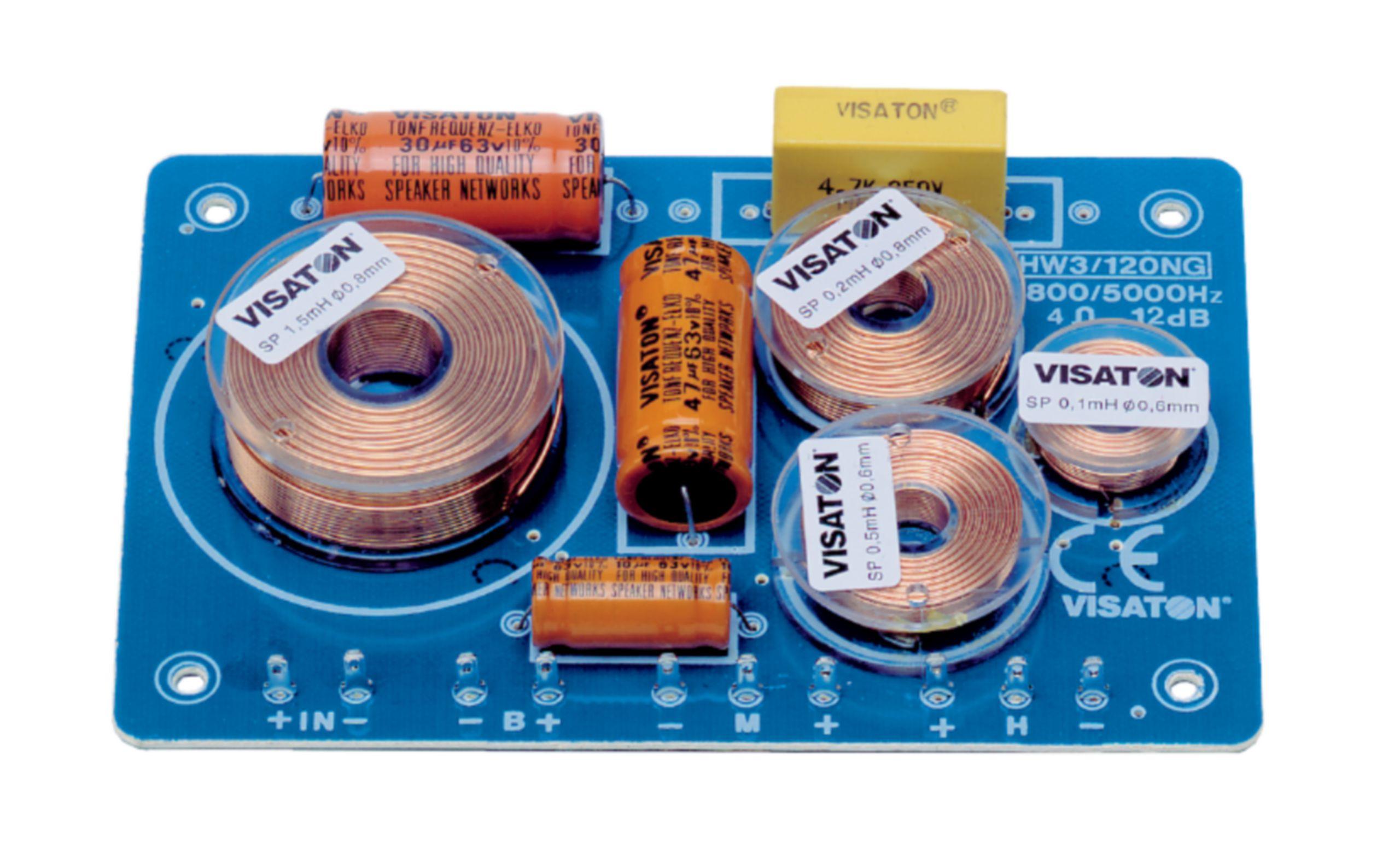 Frekvenční výhybka 4 Ohm Visaton, VS-HW3/120NG/4