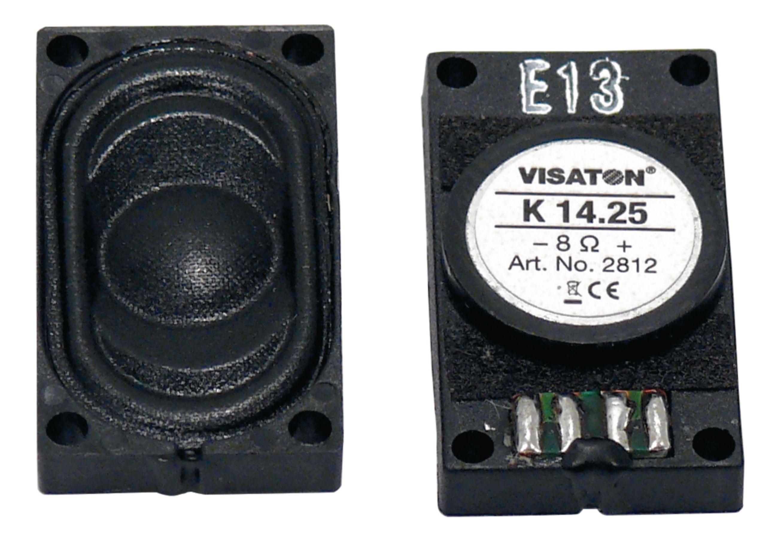 """Malý reproduktor 1.4 x 2.5 cm (0.5"""" x 1"""") 8 Ohm 1.5 W Visaton, VS-2812"""