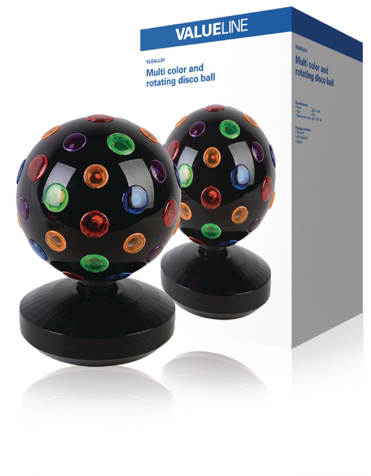 Barevná rotující disco koule 20 cm