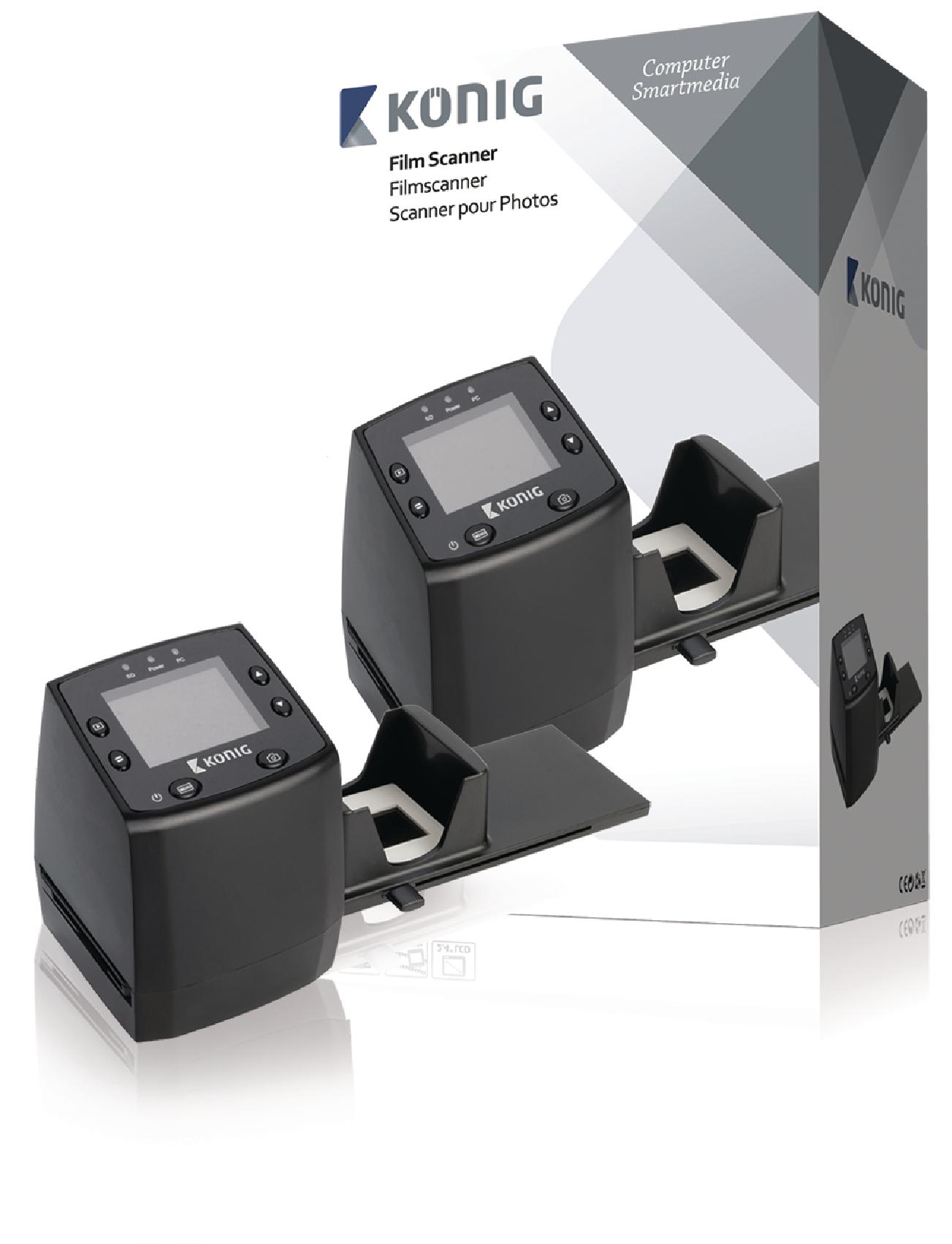 Filmový skener s LCD, 5 Mpixel, König