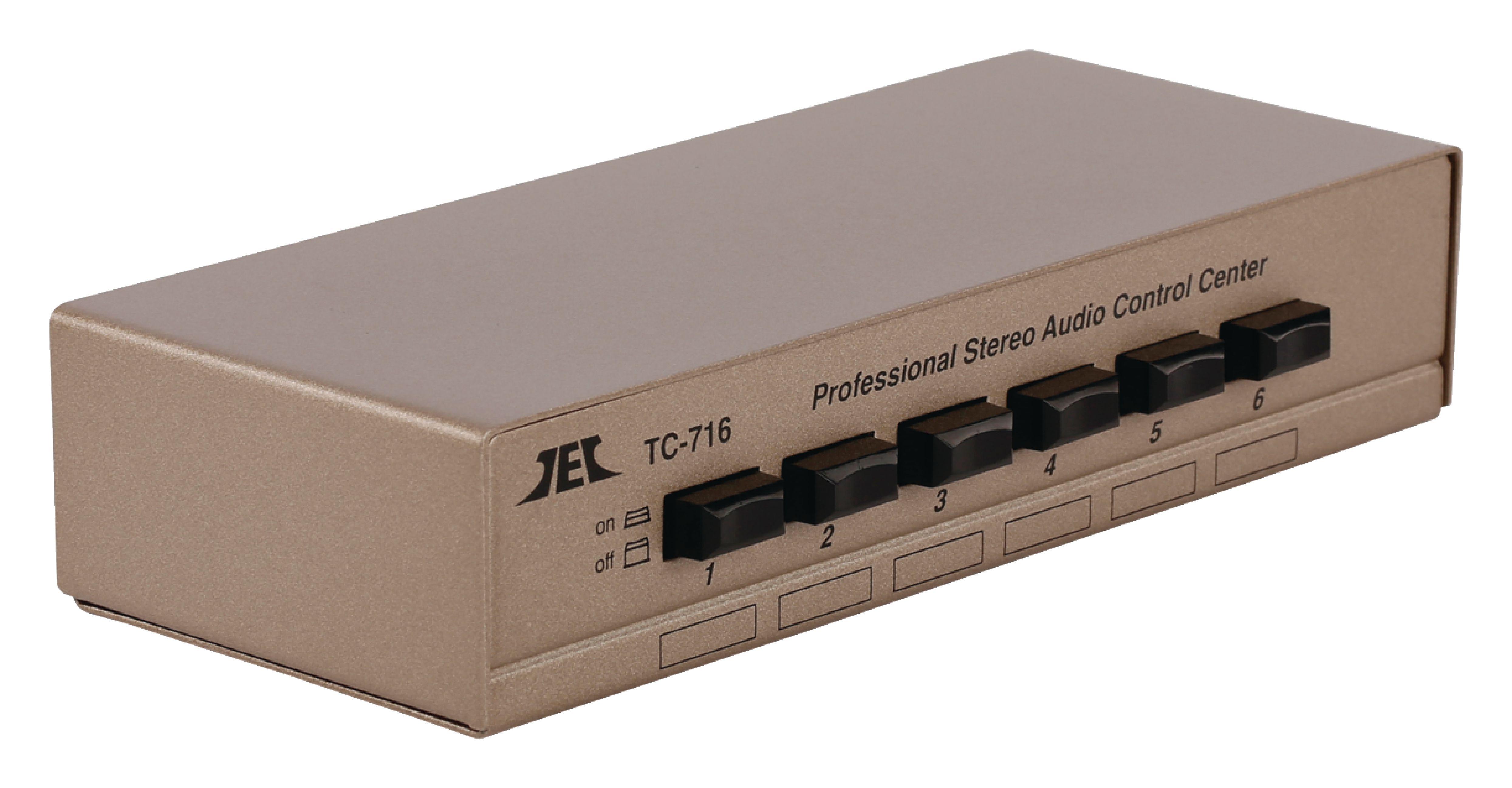 Audio přepínač manuální se 6 porty, TC716