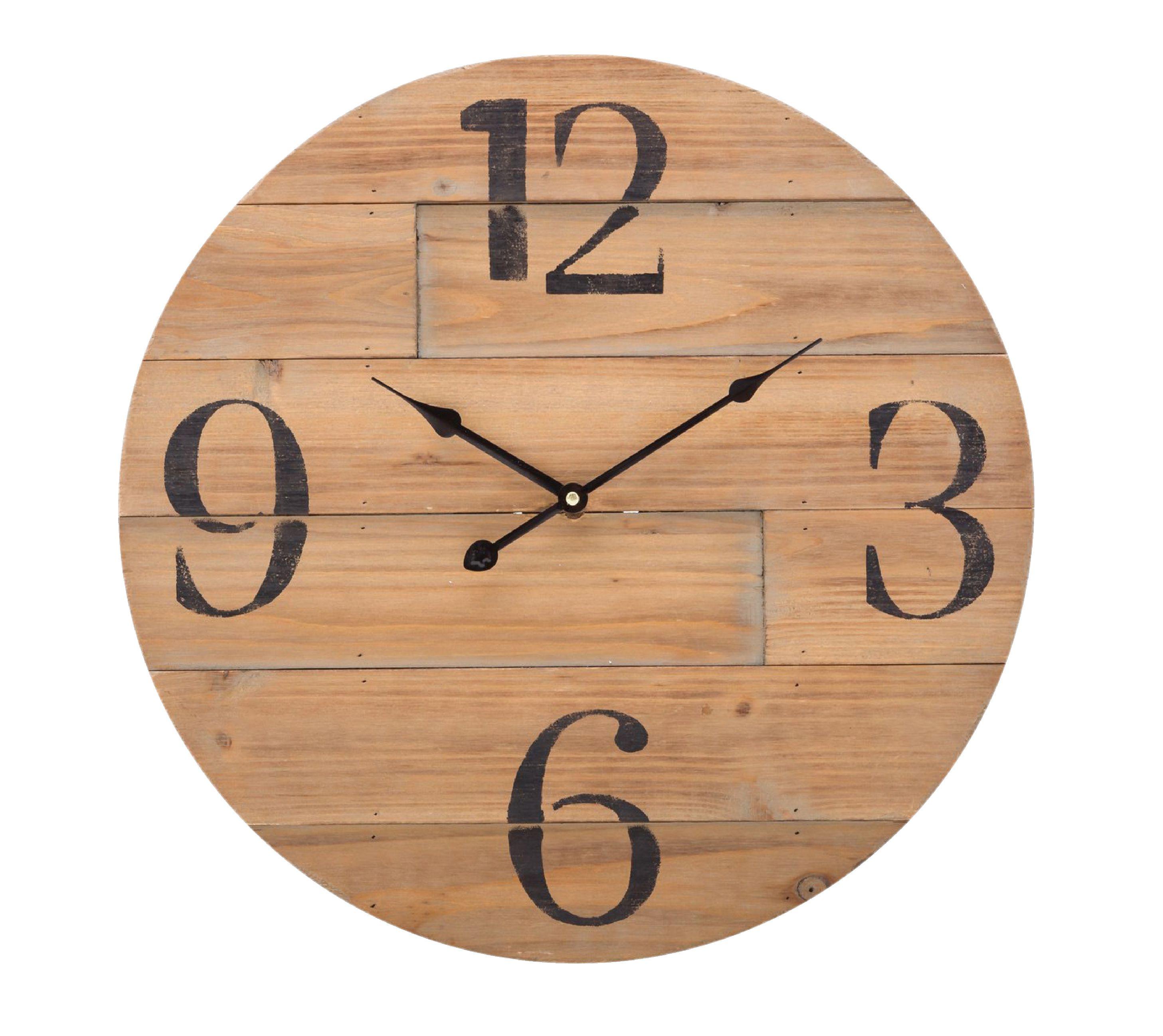 Dřevěné analogové nástěnné hodiny 50 cm Balance 306711
