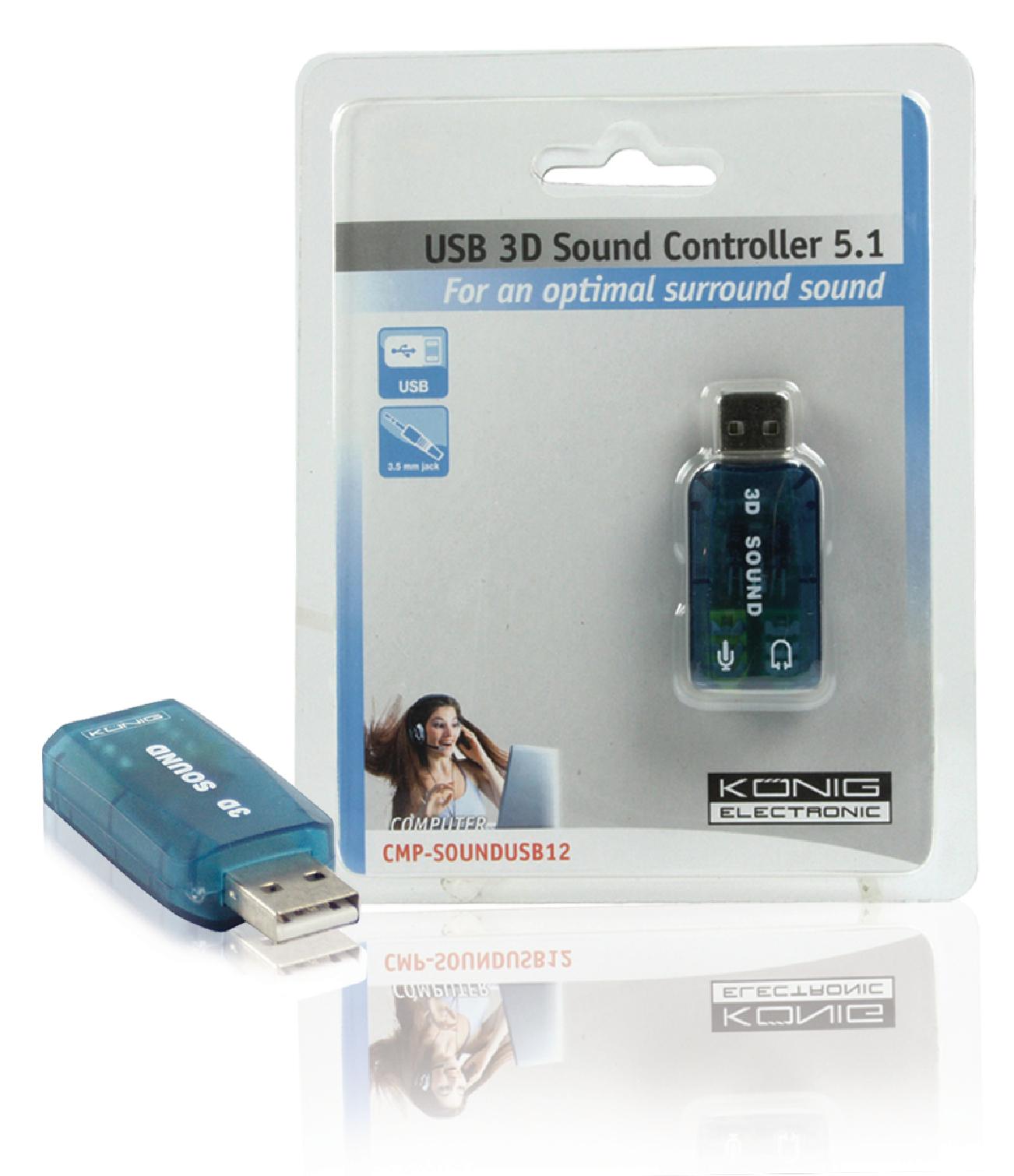 USB zvuková karta König CMP-SOUNDUSB12