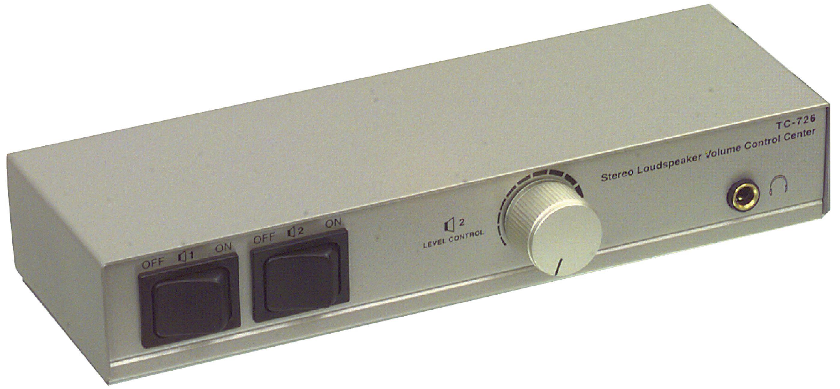 Přepínač a regulátor hlasitosti pro 2 páry reproduktorů, TC726