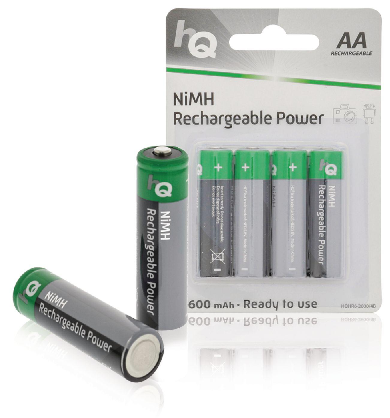 Nabíjecí baterie HQ NiMH AA 1.2V 2600mAh - 4ks, HQHR6-2600/4B