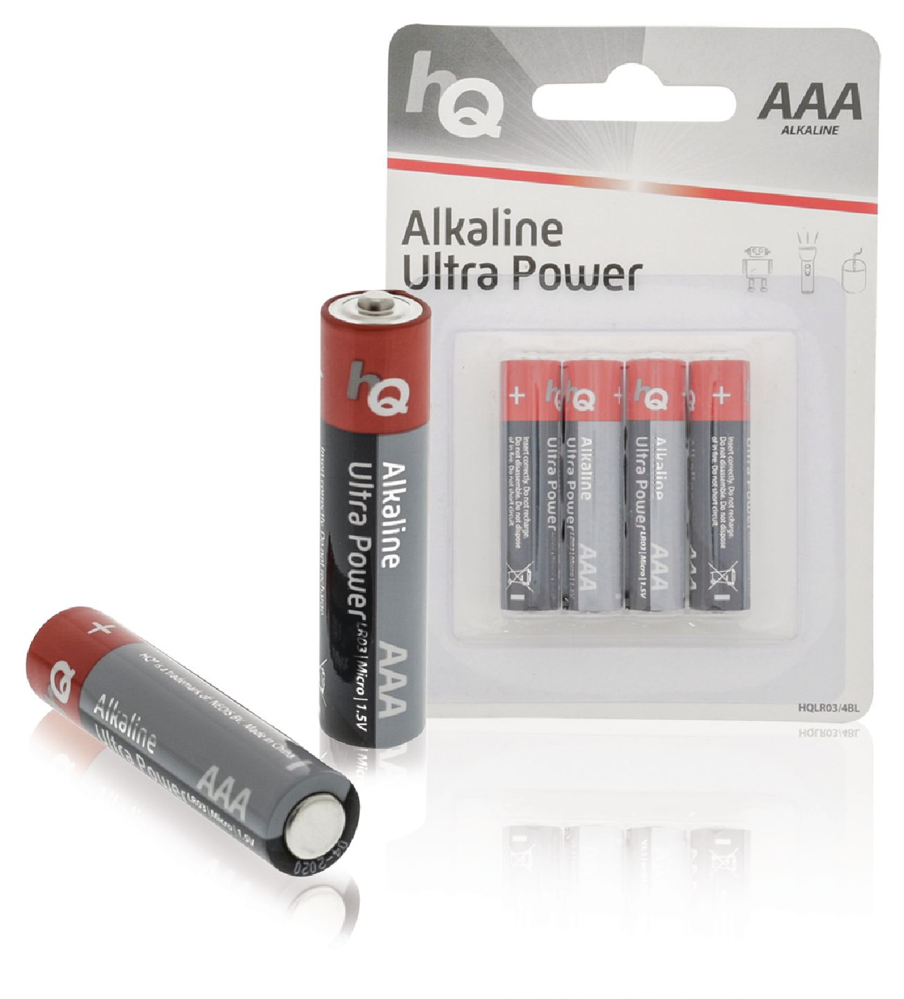 Alkalická baterie HQ Ultra Power AAA 1.5 V, 4ks, HQLR03/4BL