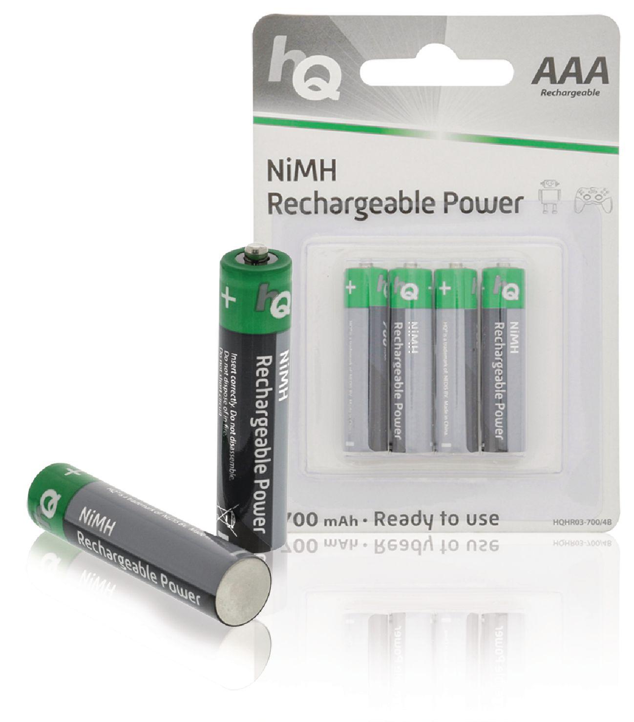 Nabíjecí baterie HQ NiMH AAA 1.2V 700mAh - 4ks, HQHR03-700/4B