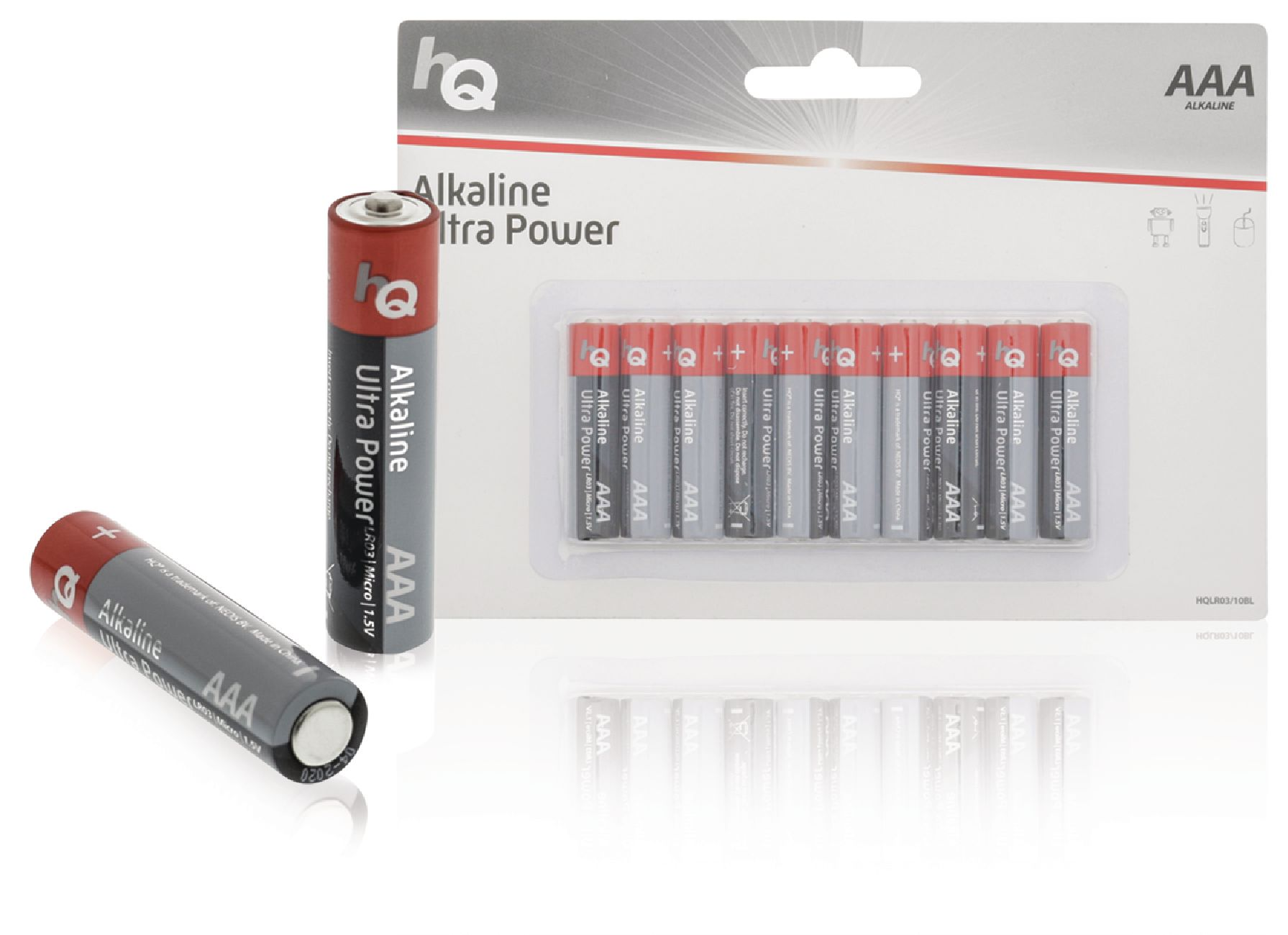 Alkalická baterie HQ Ultra Power AAA 1.5 V, 10ks, HQLR03/10BL
