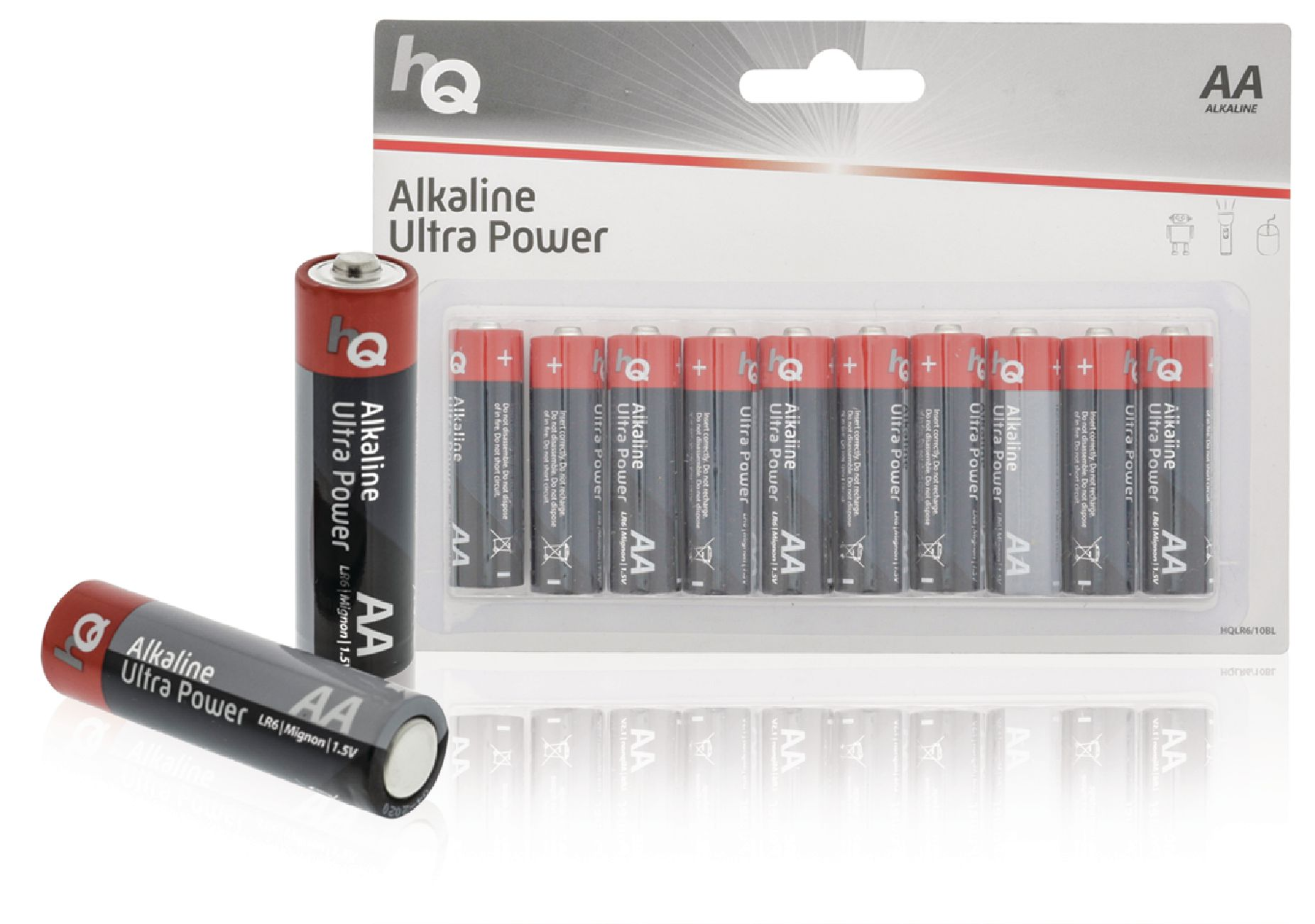 Alkalická baterie HQ Ultra Power AA 1.5 V, 10ks, HQLR6/10BL