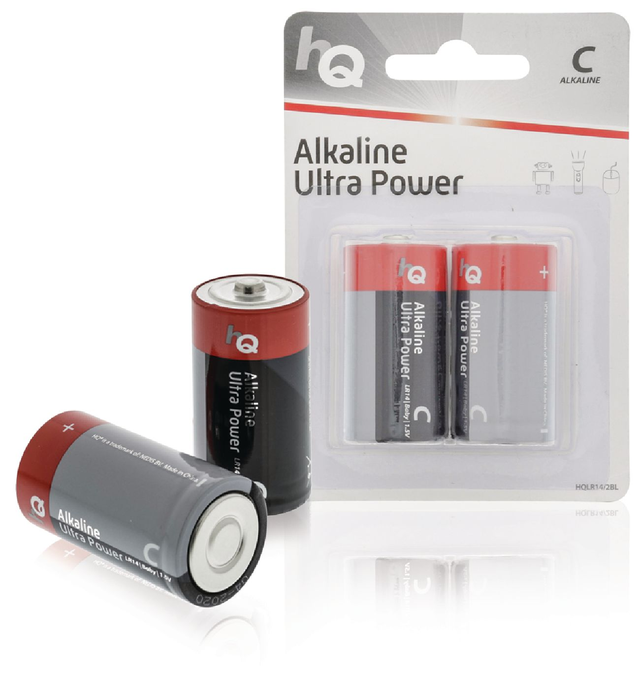 Alkalická baterie HQ Ultra Power LR14 1.5 V, 2ks, HQLR14/2BL