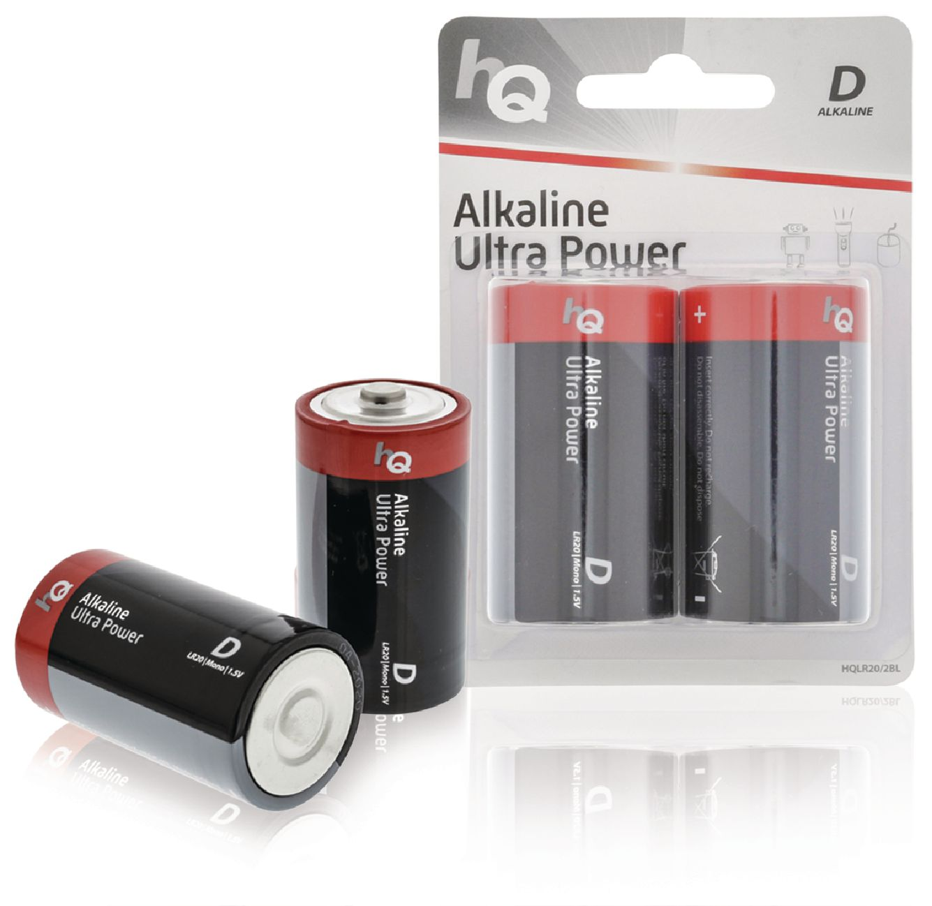 Alkalická baterie HQ Ultra Power LR20 1.5 V, 2ks, HQLR20/2BL