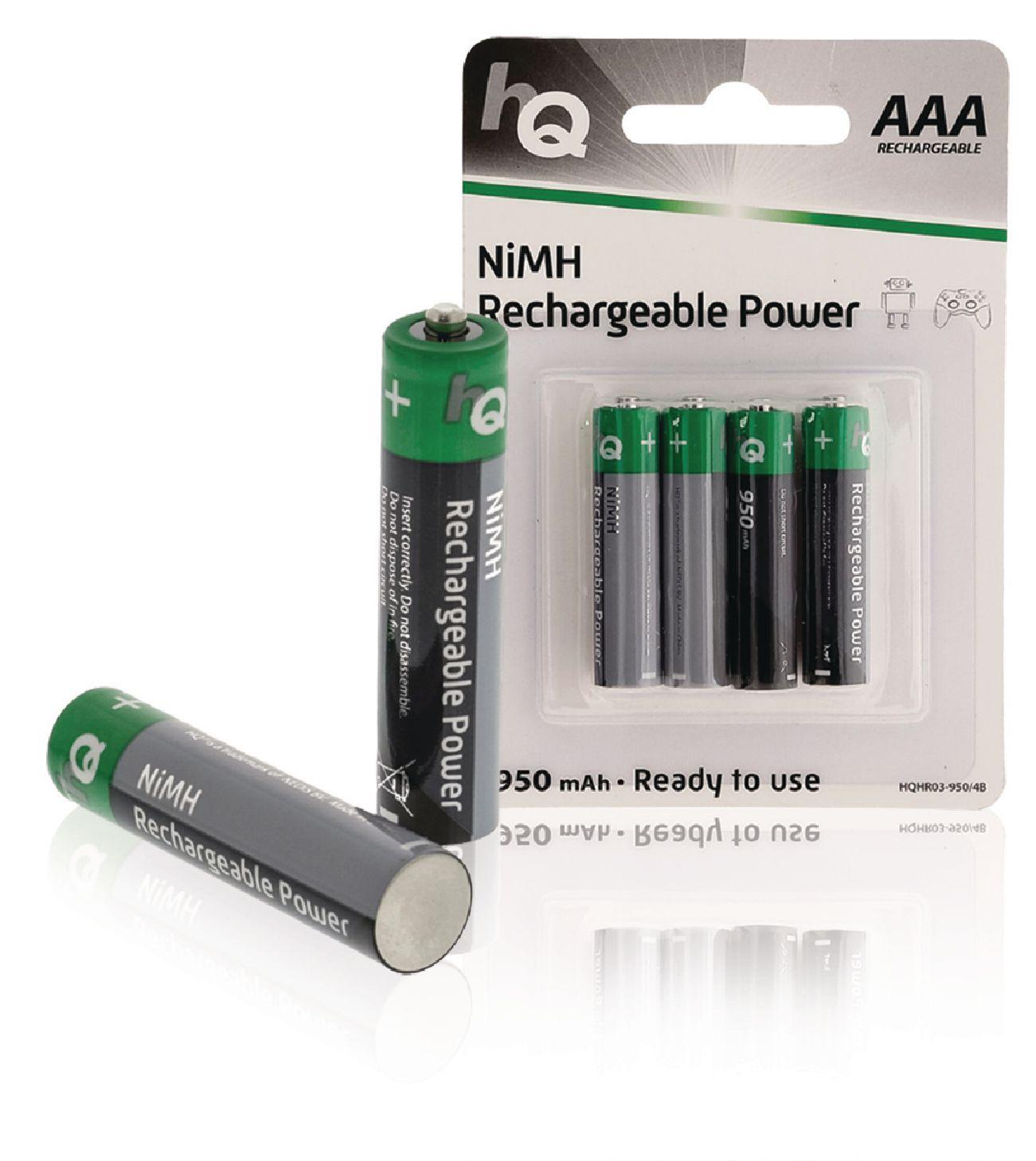 Nabíjecí baterie HQ NiMH AAA 1.2V 950mAh - 4ks, HQHR03-950/4B