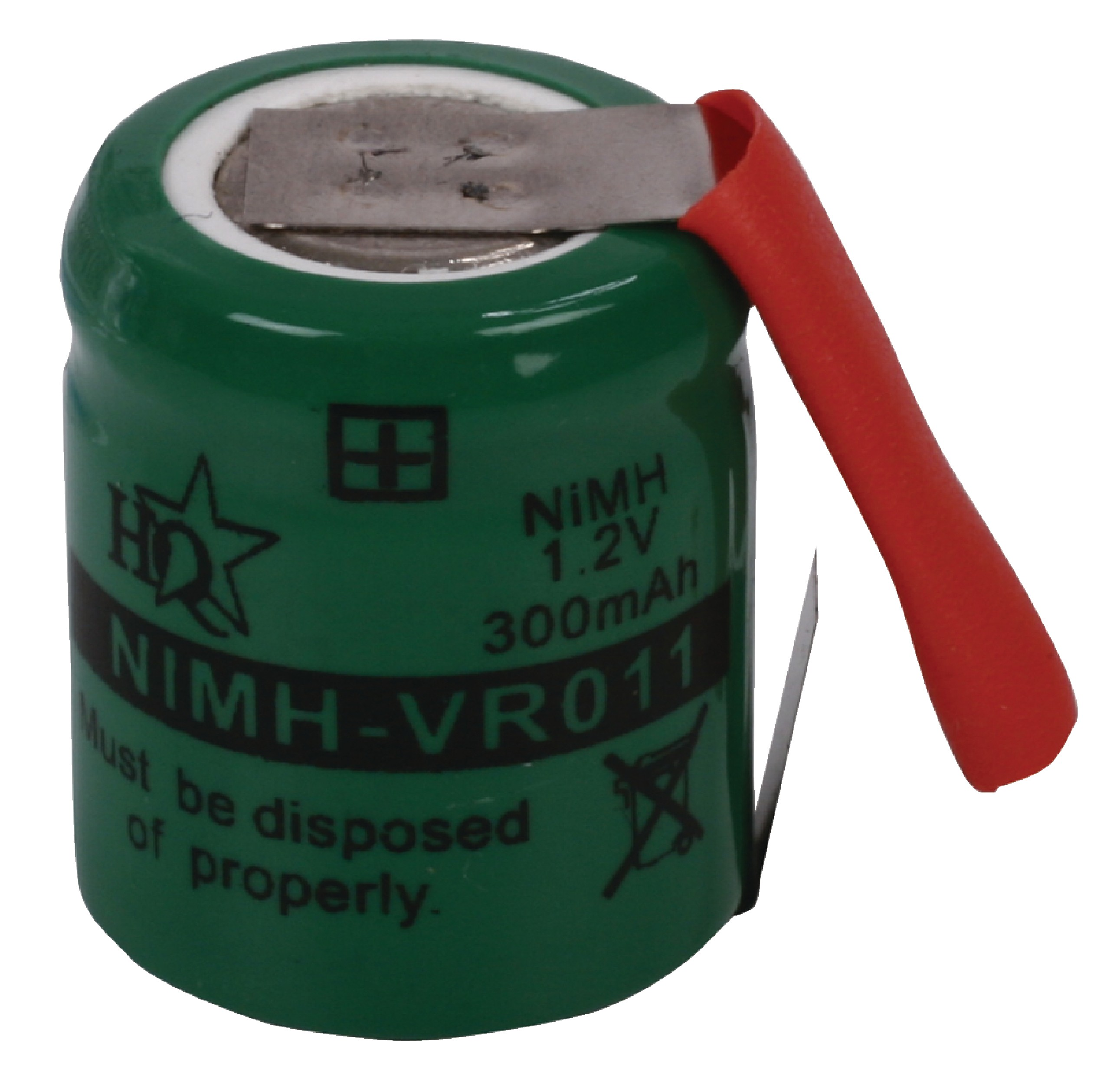 Akumulátor NiMH 1.2V/300mAh, NIMH-VR011