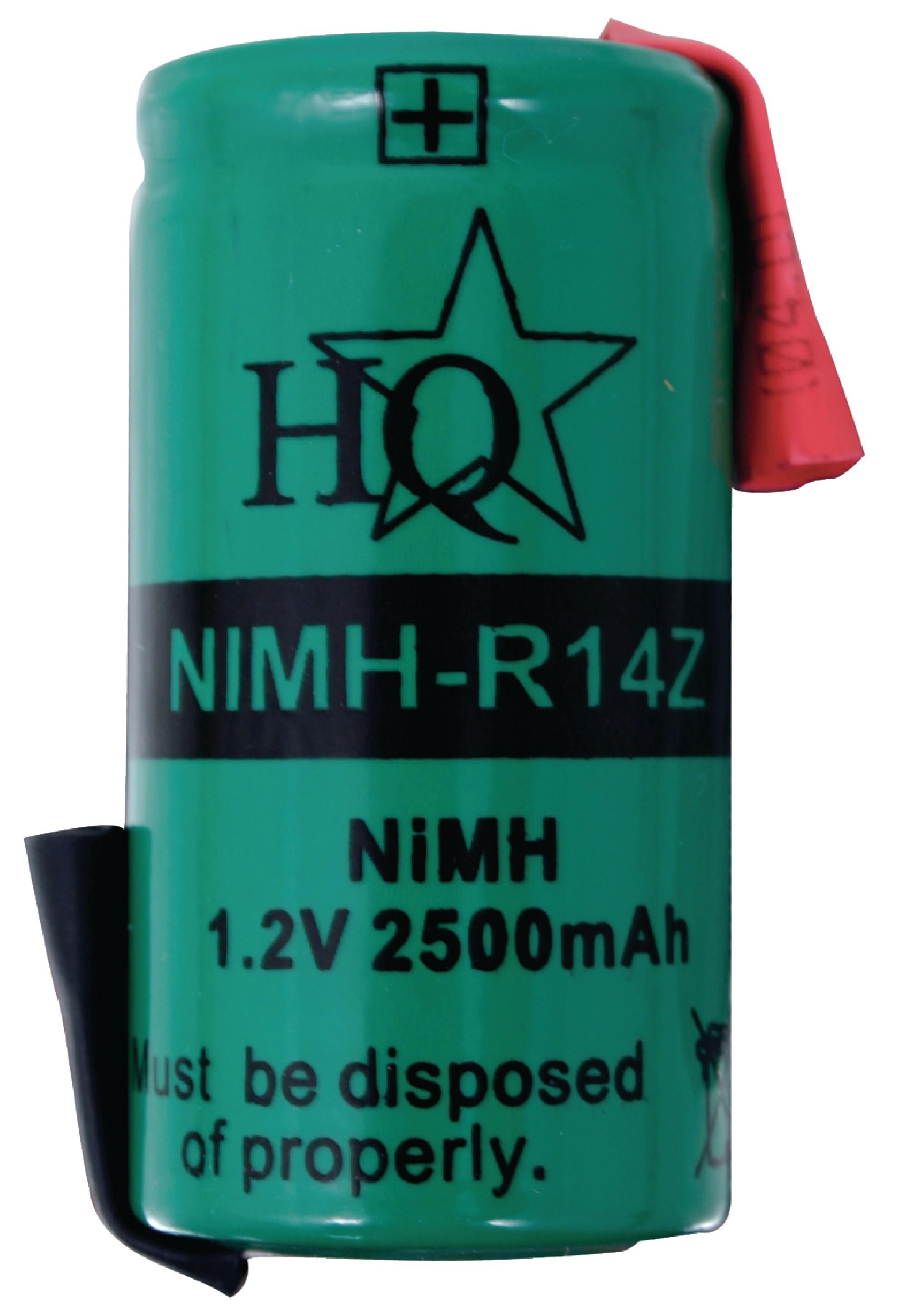 Akumulátor NiMH 1.2V/500mAh, NIMH-R14Z
