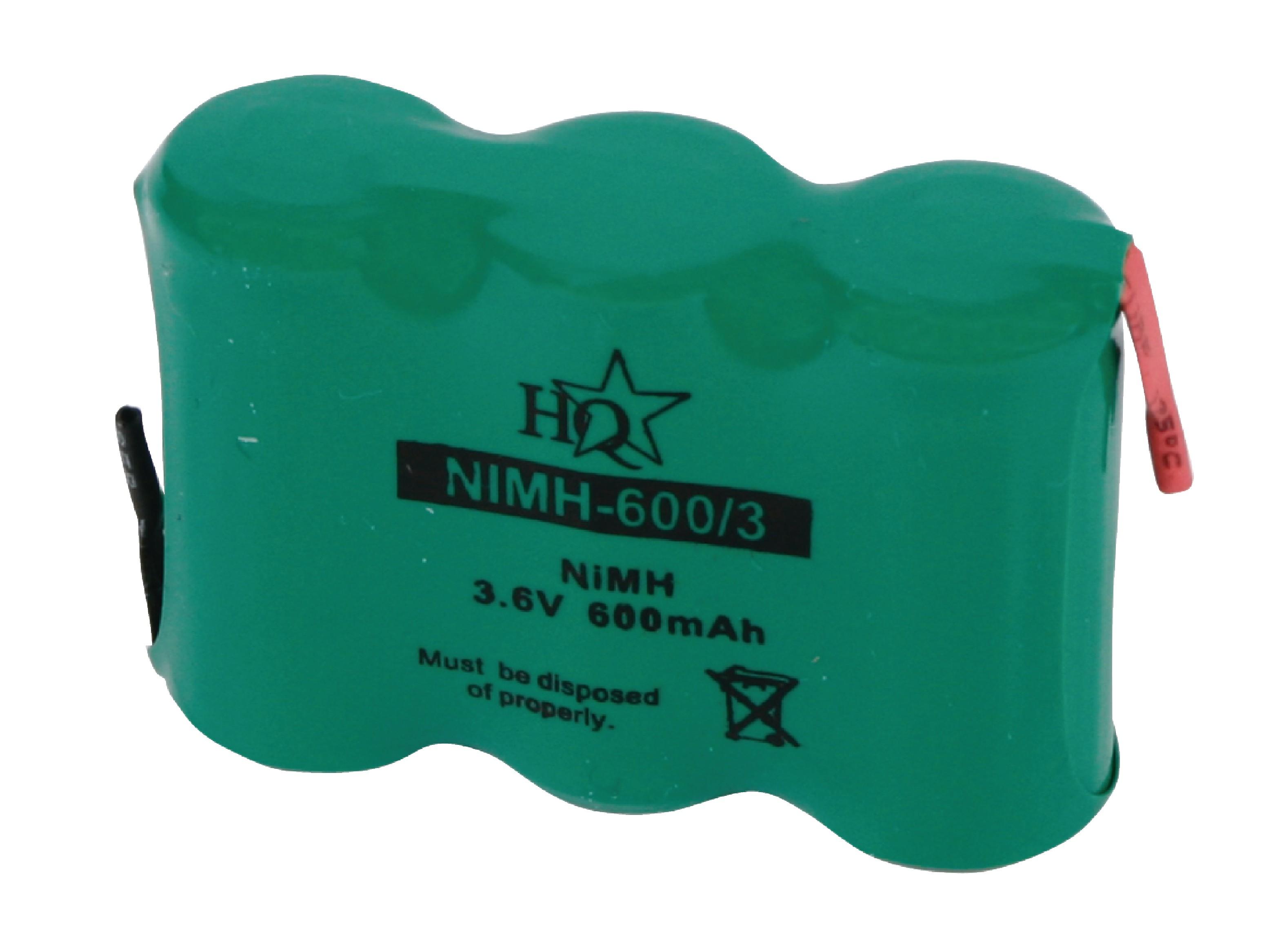 Akumulátor NiMH 3.6V/600mAh, NIMH-600/3