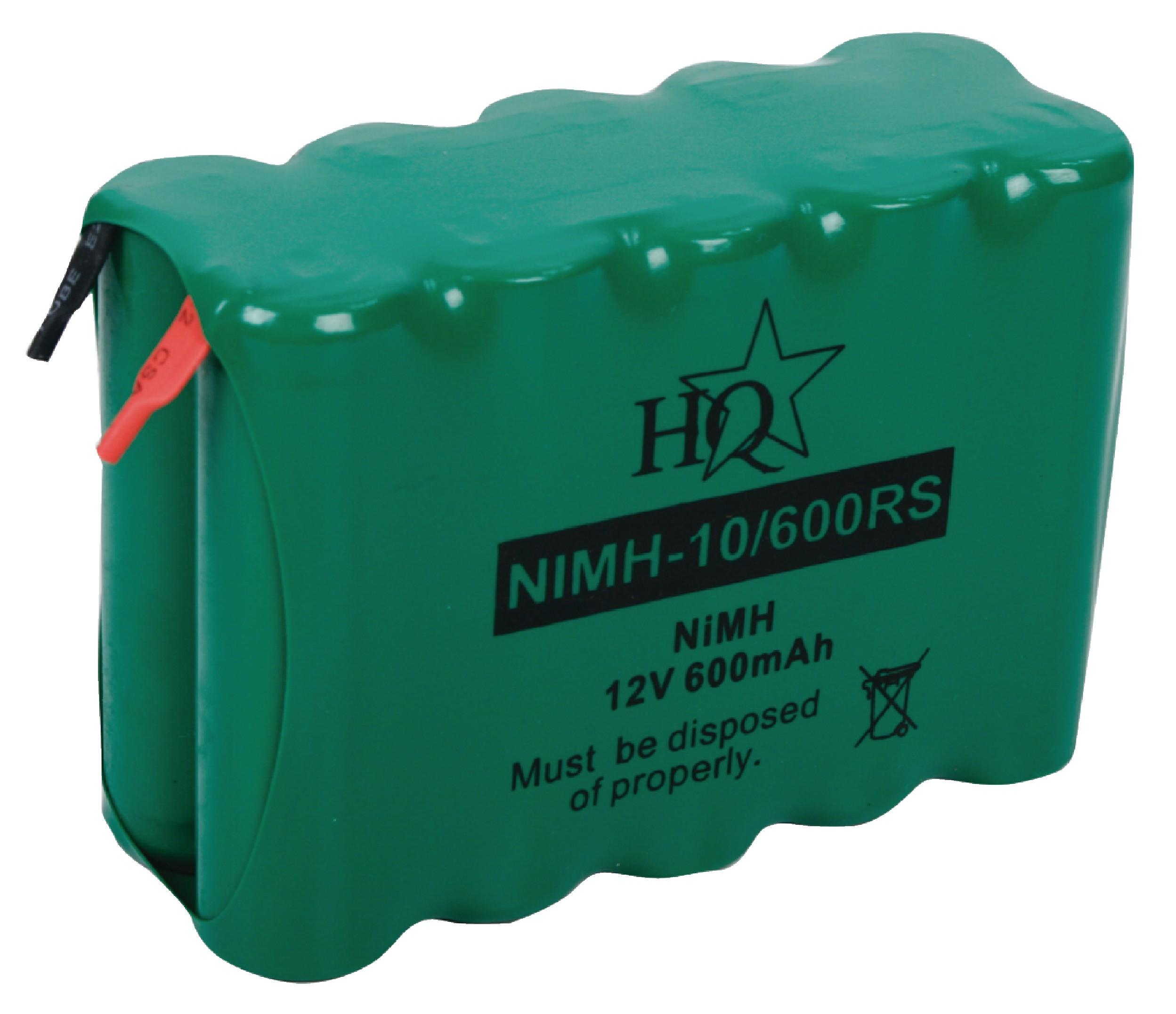 Akumulátor NiMH 12V/600mAh, NIMH-10/600RS