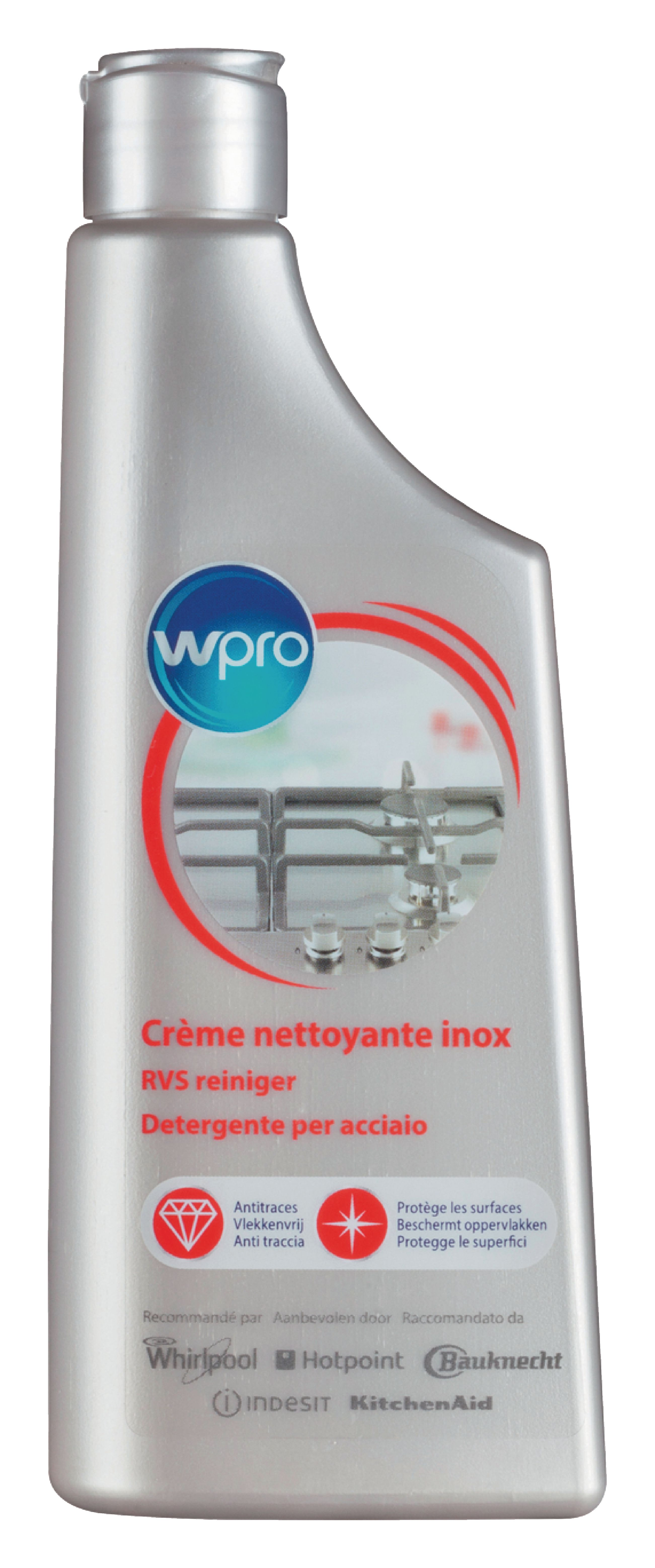 Čisticí prostředek IXC015 na nerezové povrchy 250 ml, Wpro 484000008501