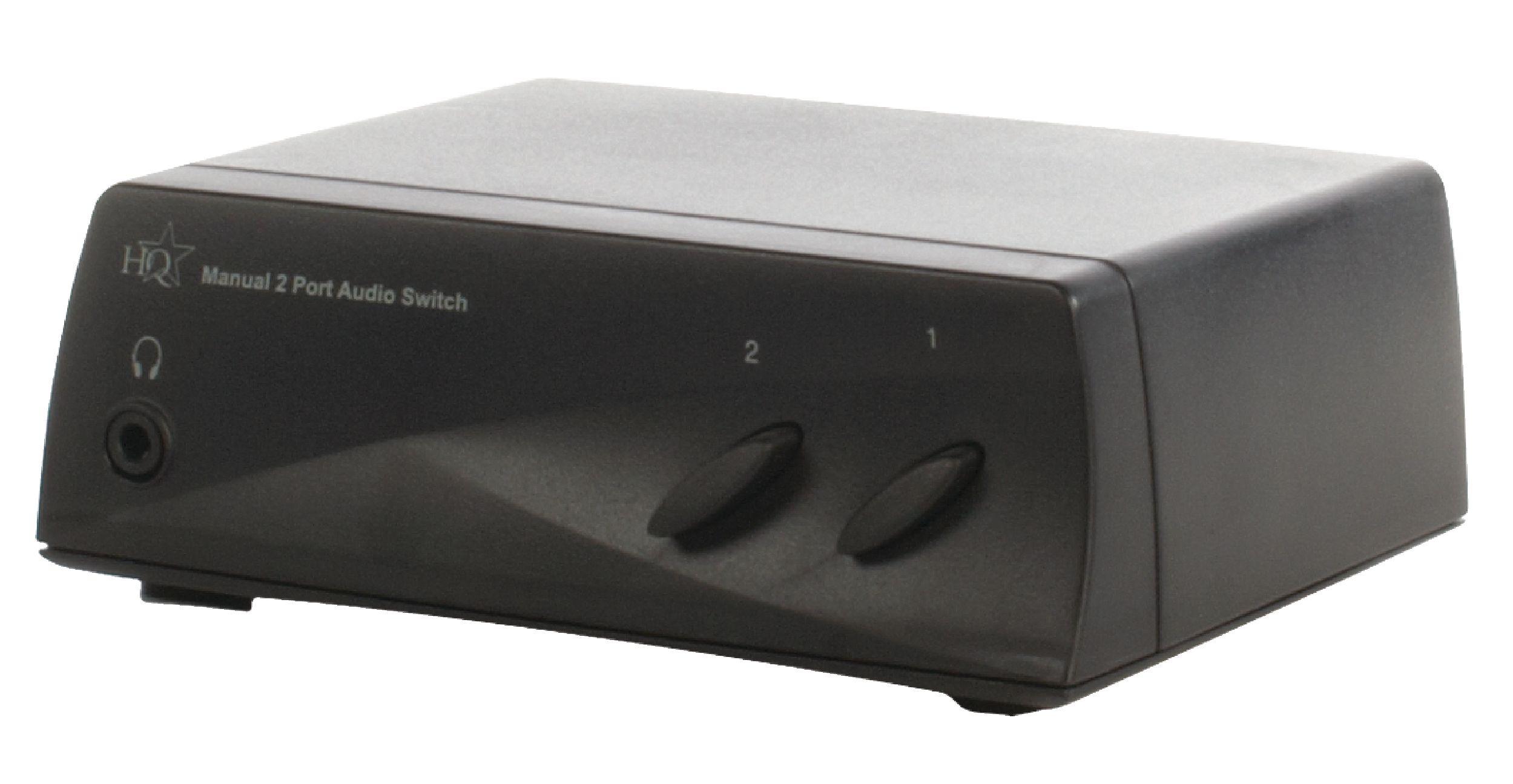 Audio přepínač manuální se 2 porty HQ, HQSW-AV100