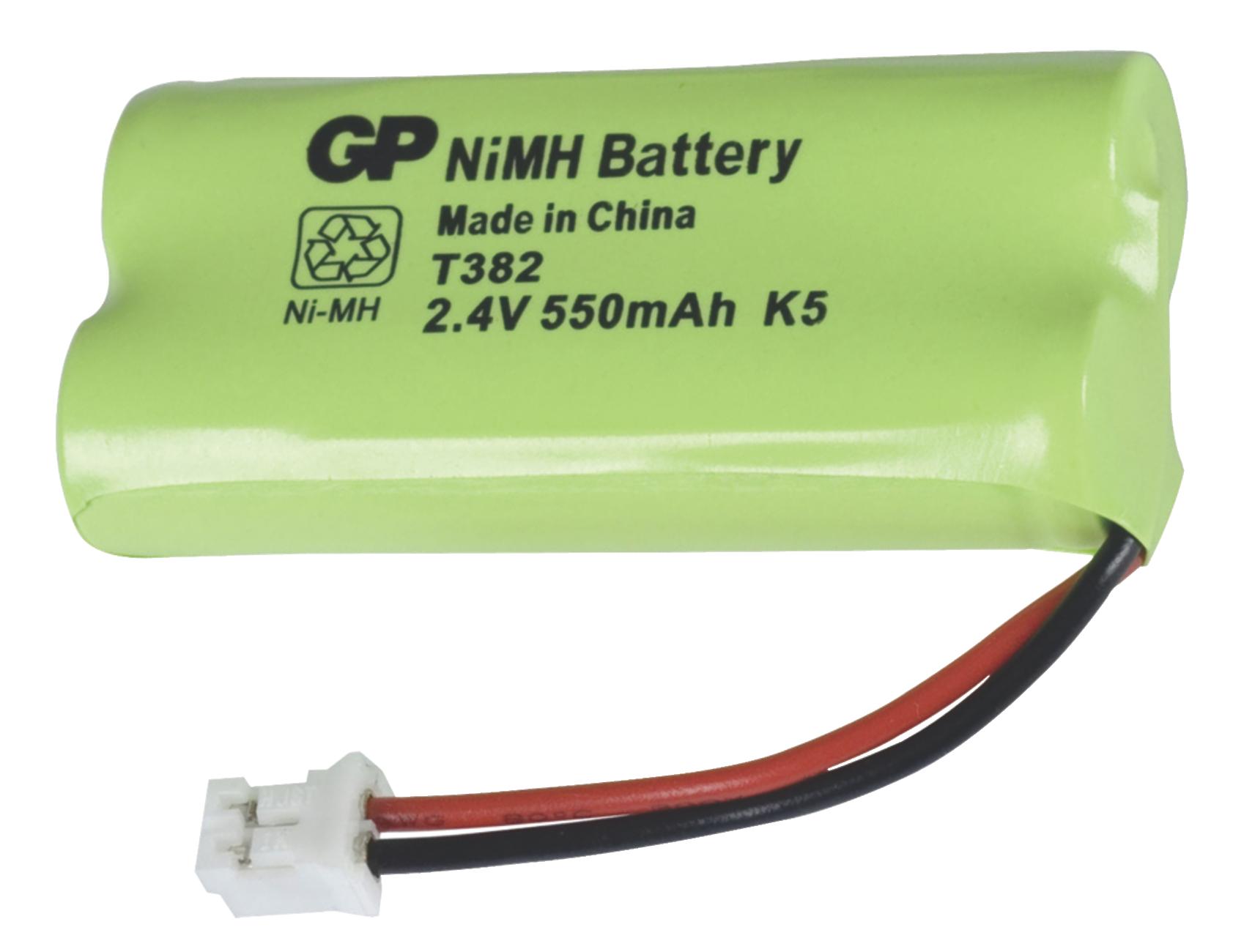 Akumulátor NiMH 2.4V/550mAh, ACCU-T382