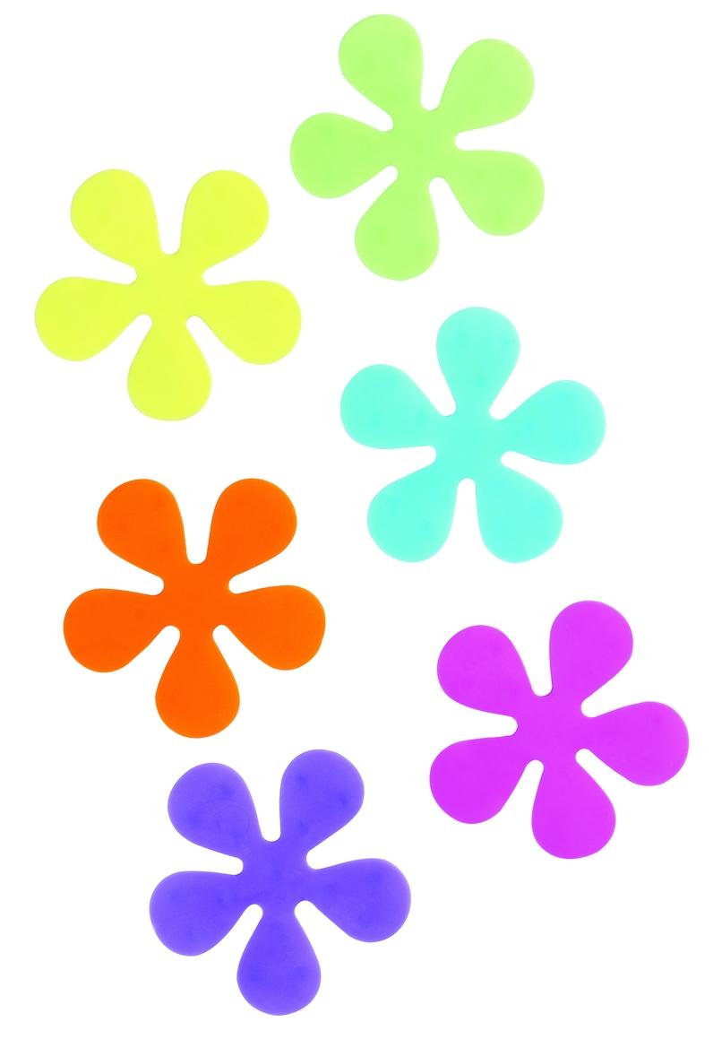 Protiskluzové prvky do vany květiny (set 6 kusů)