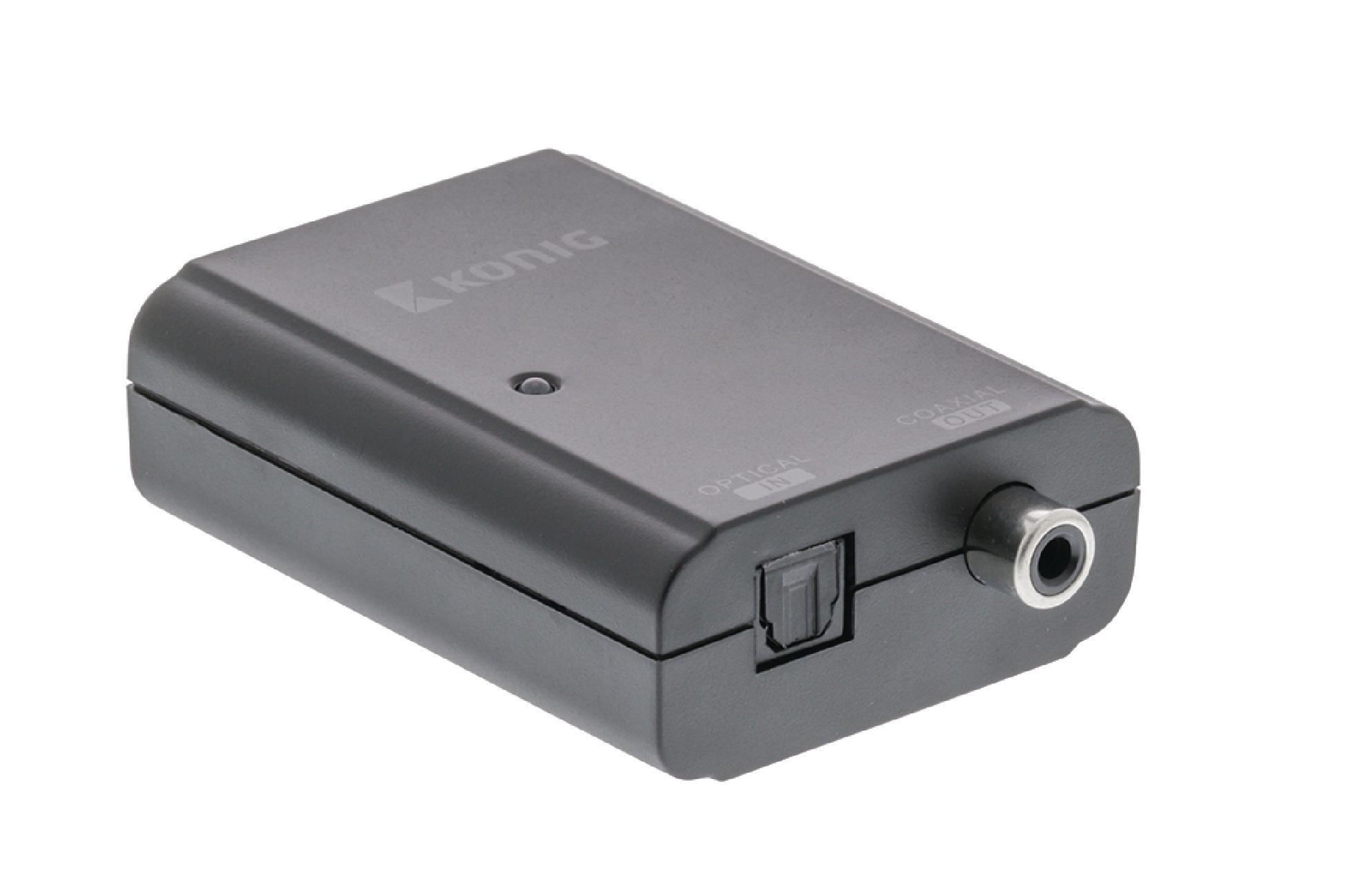 Převodník digitálního audia TosLink na RCA S/PDIF König KNACO2501