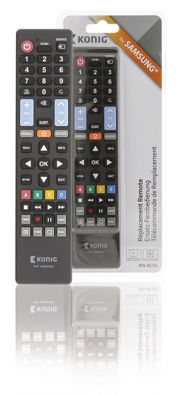 Předprogramovaný dálkový ovladač pro TV Samsung, König KN-RCSS