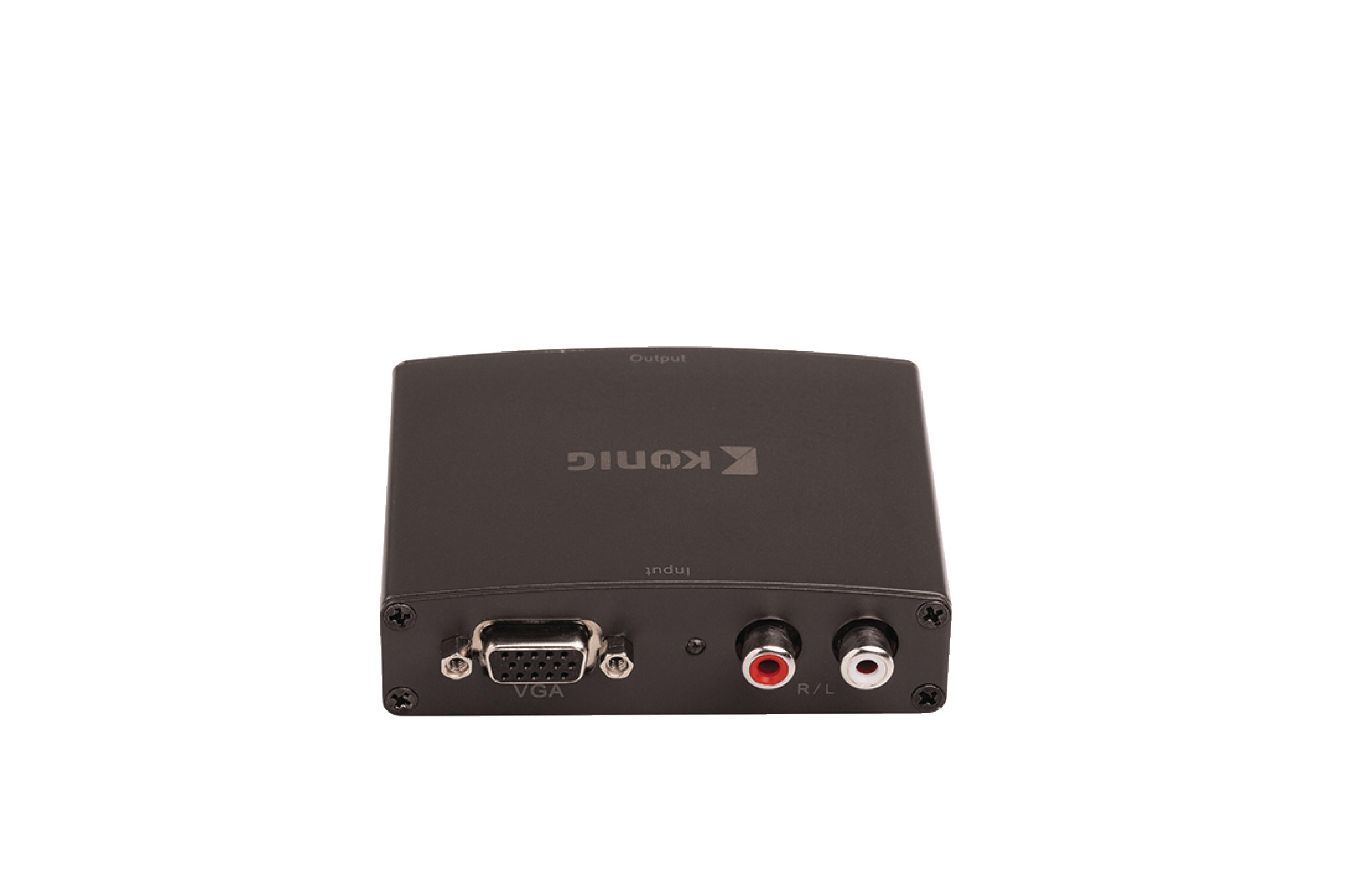 Převodník VGA + 2x RCA na HDMI, Full HD 1920x1080 König KNVCO3410